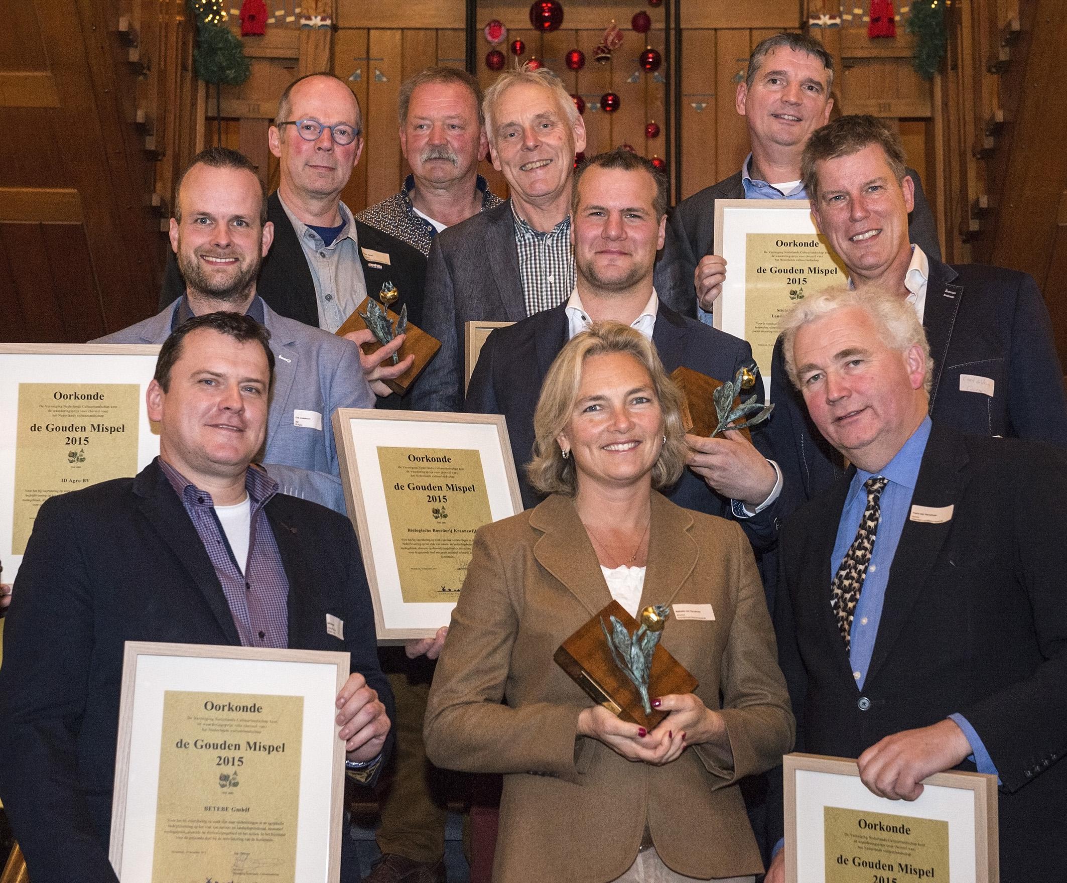 de winnaars van 2015